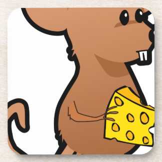 Mouse with Cheese Coaster