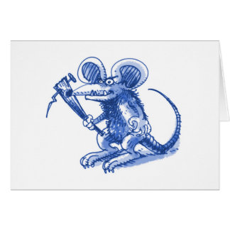 mouse with hard plank blue card