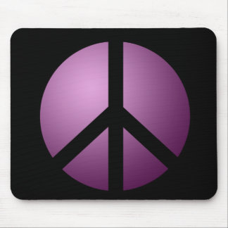 Mousemat Peace, Black and Purple Mouse Pad