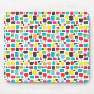 Mousepad à la mode mignon de motif de sacs tapis de souris