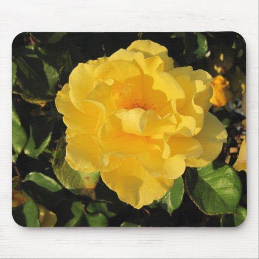 Mousepad: A Single Yellow Rose