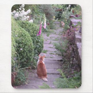 Mousepad anglais de chats de jardin de cottage tapis de souris