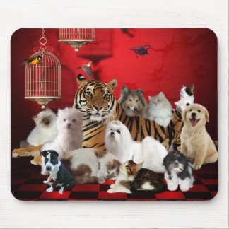 Mousepad Animals Tiger Cats Dogs 3