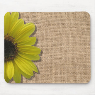 Mousepad - Burlap and Sunflower