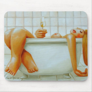Mousepad: Champagne by Flavio Rossi Mouse Pad