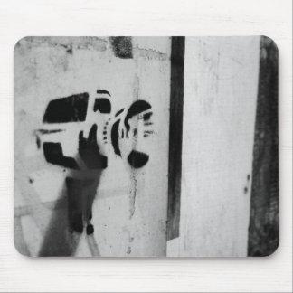 mousepad d'art de graffiti d'appareil-photo d'arme tapis de souris