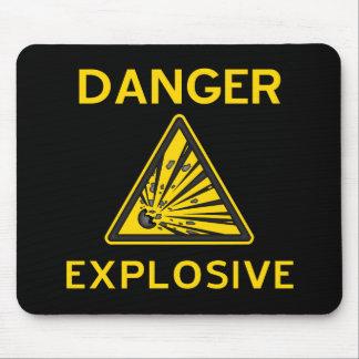 Mousepad d'avertissement explosif tapis de souris
