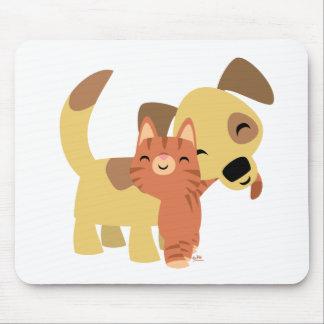 Mousepad de bande dessinée de Kitty et de chienchi Tapis De Souris