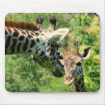 mousepad de girafe de maman et de bébé tapis de souris