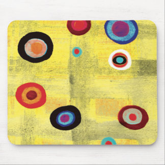 Mousepad dots grungy dirty old vintage colorfull