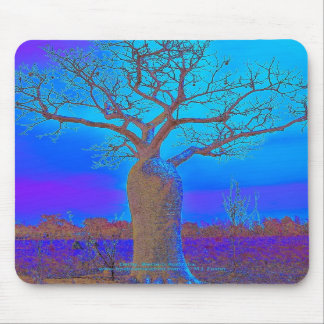 Mousepad - Elegant Blue Boab Tree.