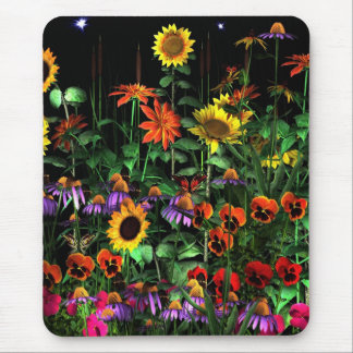 Mousepad Floral Flowers At Night Half 2