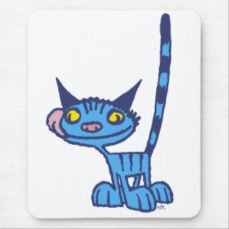 Mousepad frais de bande dessinée de chat bleu tapis de souris