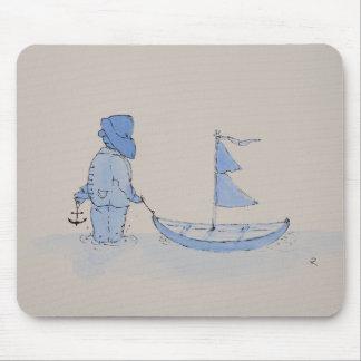 "Mousepad ""Fritzchens sailing boat """