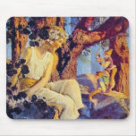 Mousepad: Girl with Elves - by Maxfield Parrish Mouse Pad