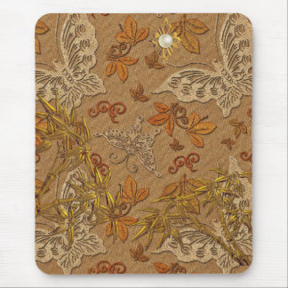 Mousepad Gold Beige Butterfly 2