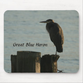 Mousepad:  Great Blue Heron Mouse Pad