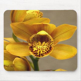 Mousepad jaune d'orchidée tapis de souris