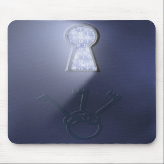 Mousepad, Lighted Keyhole and Keys Mouse Pad
