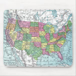 Mousepad:  Map of United States, 1921