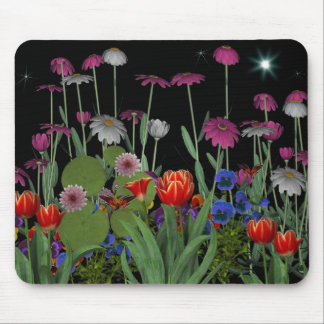 Mousepad Night Flower Garden