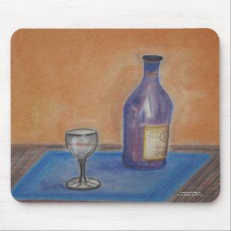 Mousepad: original art designs Wine glass still Mouse Pad