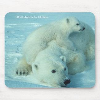 Mousepad / Polar Bear & Cub