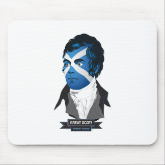 Mousepad. Robert Burns, a Great Scot! Mouse Pad