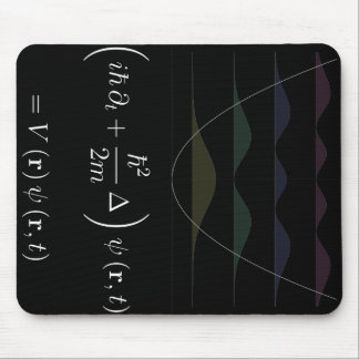 mousepad, Schrodinger equation, harmonic potential Mouse Pad