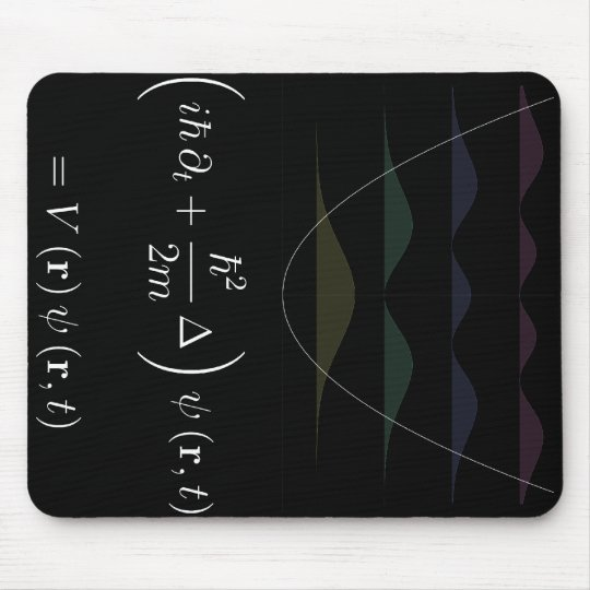mousepad, Schrodinger equation, harmonic potential Mouse Pad