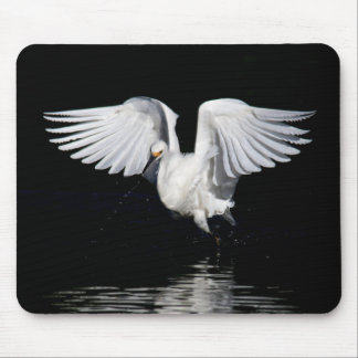 Mousepad - Snowy egret wings