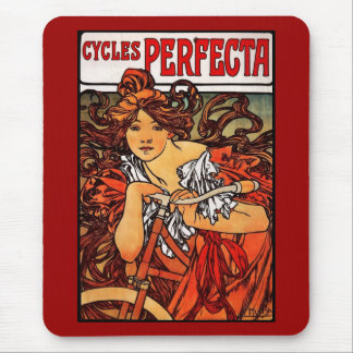 Mousepad Vintage Art Alfons Mucha 1902 Cycles