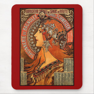 Mousepad Vintage Art Alfons Mucha F Champenois