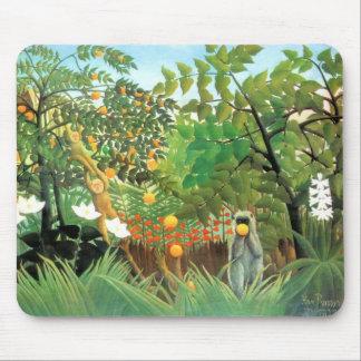 Mousepad Vintage Art Exotic Landscape