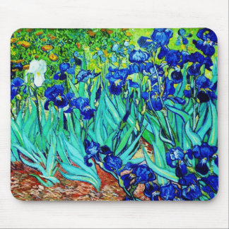 Mousepad Vintage Art Irises