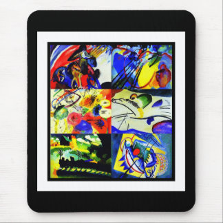 Mousepad Vintage Art Kandinsky Collage