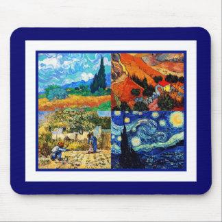 Mousepad Vintage Art Van Gogh Collage