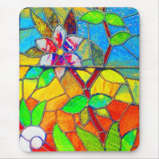 Mousepad-Vintage Stained Glass Art-8 Mouse Pad