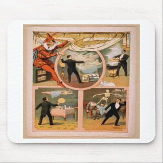 Mousepad-vintage theater Magician advertisment