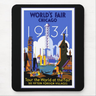 Mousepad Vintage Travel Chicago 1934