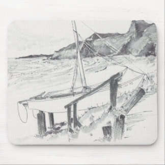 "Mousepad Watercolor Sketch ""Crystal Cove"""