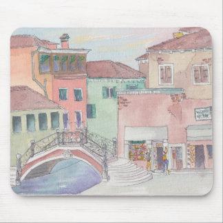 "Mousepad Watercolor Sketch ""Shopping/Italy"""