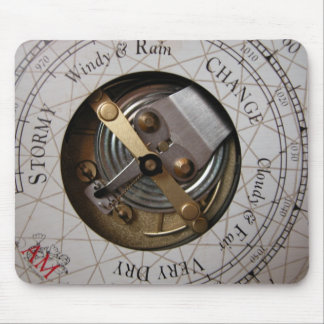 Mousepad with Nautical Weather Gauge Design