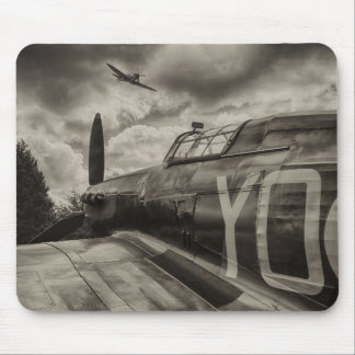 Mousepad with photograph of aircraft