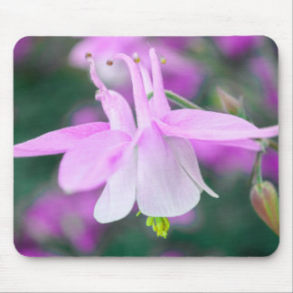 Mousepad with pink flower