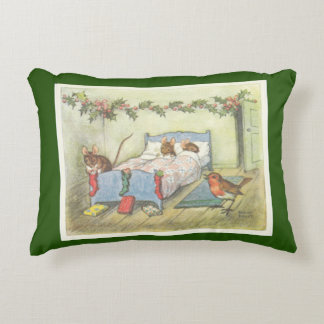Mouse's Night Before Christmas Accent Pillow