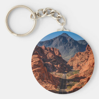 Mouses Tank Road - Valley Of Fire - Nevada Basic Round Button Keychain