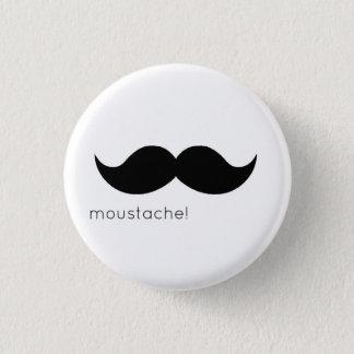 moustache 1 inch round button