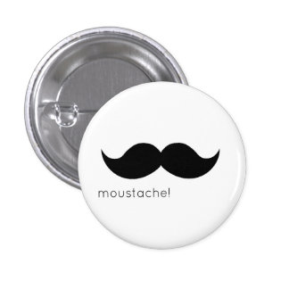 moustache 1 inch round button