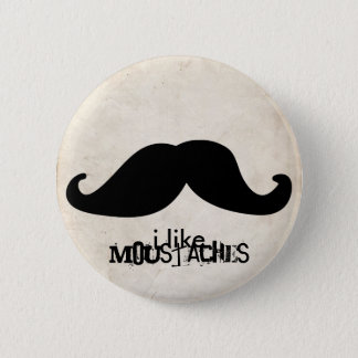 Moustache 2 Inch Round Button